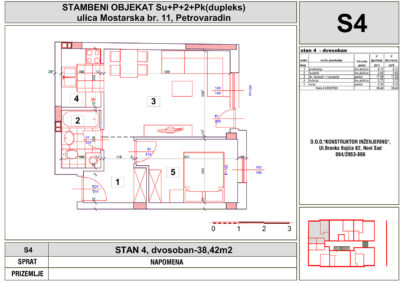 STAN 4, dvosoban-38,42m2
