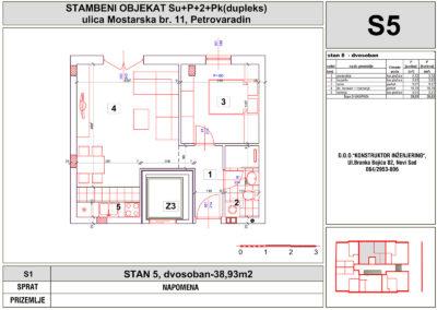 STAN 5, dvosoban-38,93m2