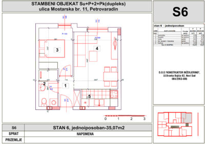 STAN 6, jednoiposoban-35,07m2