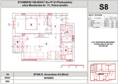 STAN 8, dvosoban-43,06m2