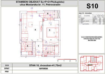 STAN 10, dvosoban-41,75m2