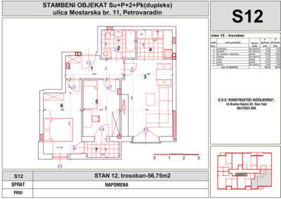 STAN 12, trosoban-56,75m2