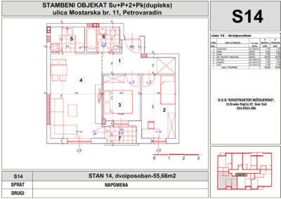 STAN 14, dvoiposoban-55,66m2