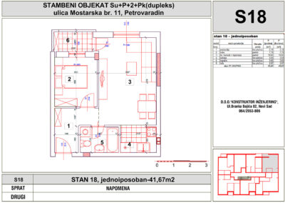 STAN 18, jednoiposoban-41,67m2