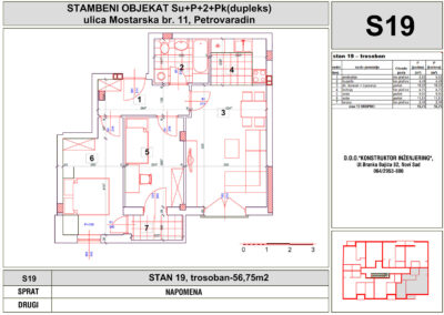 STAN 19, trosoban-56,75m2