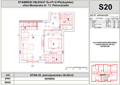 STAN 20, jednoiposoban-36,82m2