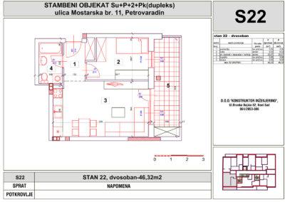 STAN 22, dvosoban-46,32m2