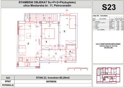 STAN 23, trosoban-60,29m2
