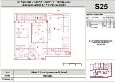 STAN 25, dvoiposoban-56,84m2