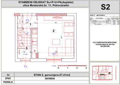 STAN 2, garsonjera-27,41m2