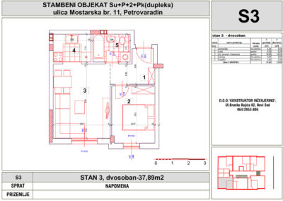 STAN 3, dvosoban-37,89m2