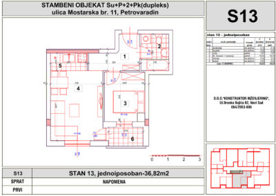STAN 13, jednoiposoban-36,82m2