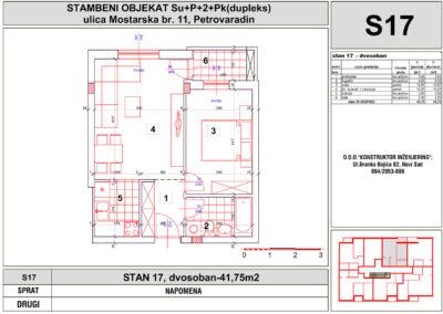 STAN 17, dvosoban-41,75m2