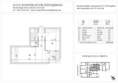Stan 10, dvosoban -38,62 m2