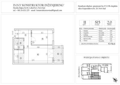 Stan 15, dvosoban -42,03 m2