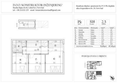 Stan 18, dvoiposoban -51,85 m2