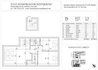 Stan 22, dvoiposoban -56,44 m2