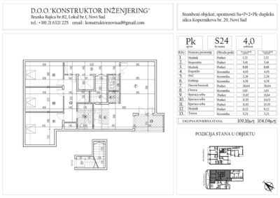 Stan 24, četvorosoban -104,04 m2