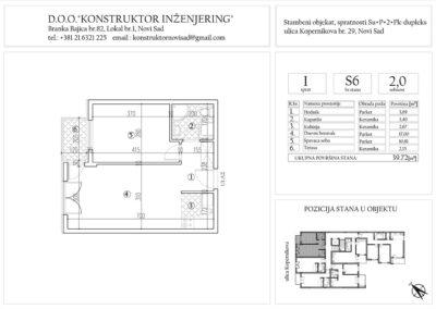 Stan 6, dvosoban – 39,72 m2